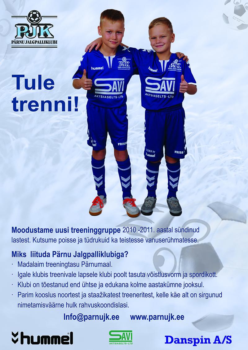 Tule Pärnu jalgpalliklubi trenni!